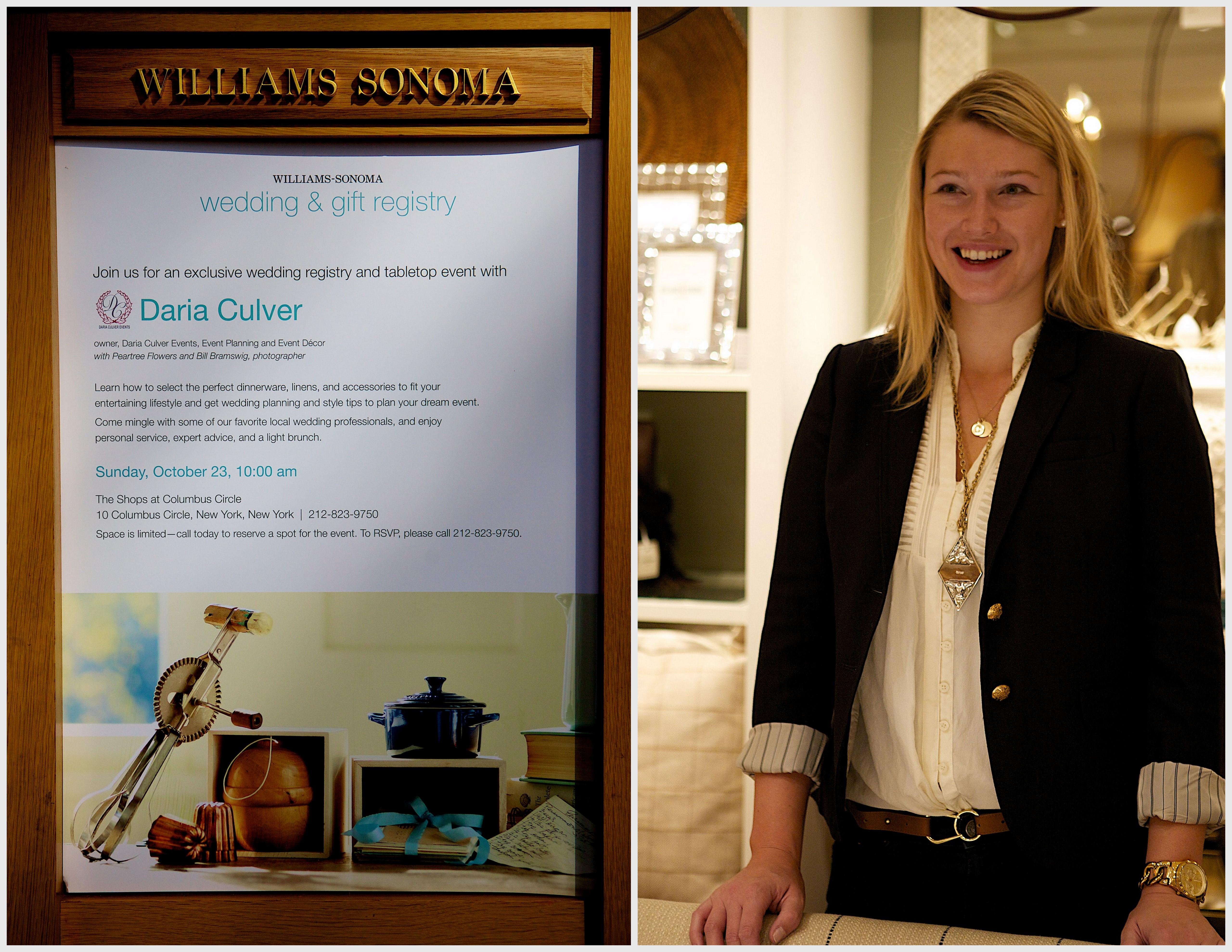 Williams Sonoma Wedding Registry.Williams Sonoma Bridal And Registry Event Daria Culver Events